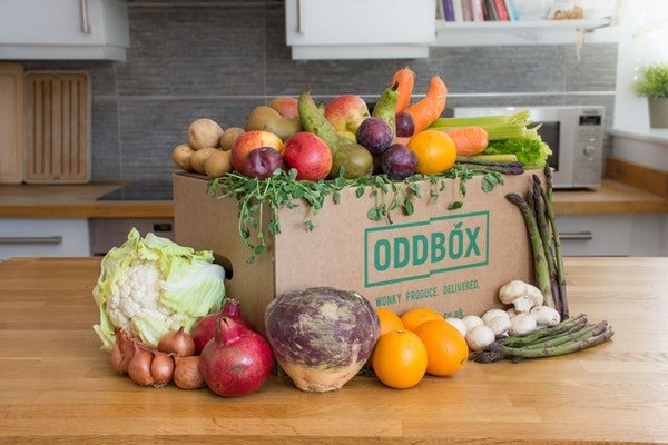 Oddbox fruit veg box